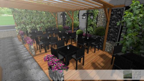 Ogród kawiarniany przy cukierni w Gliwicach 2